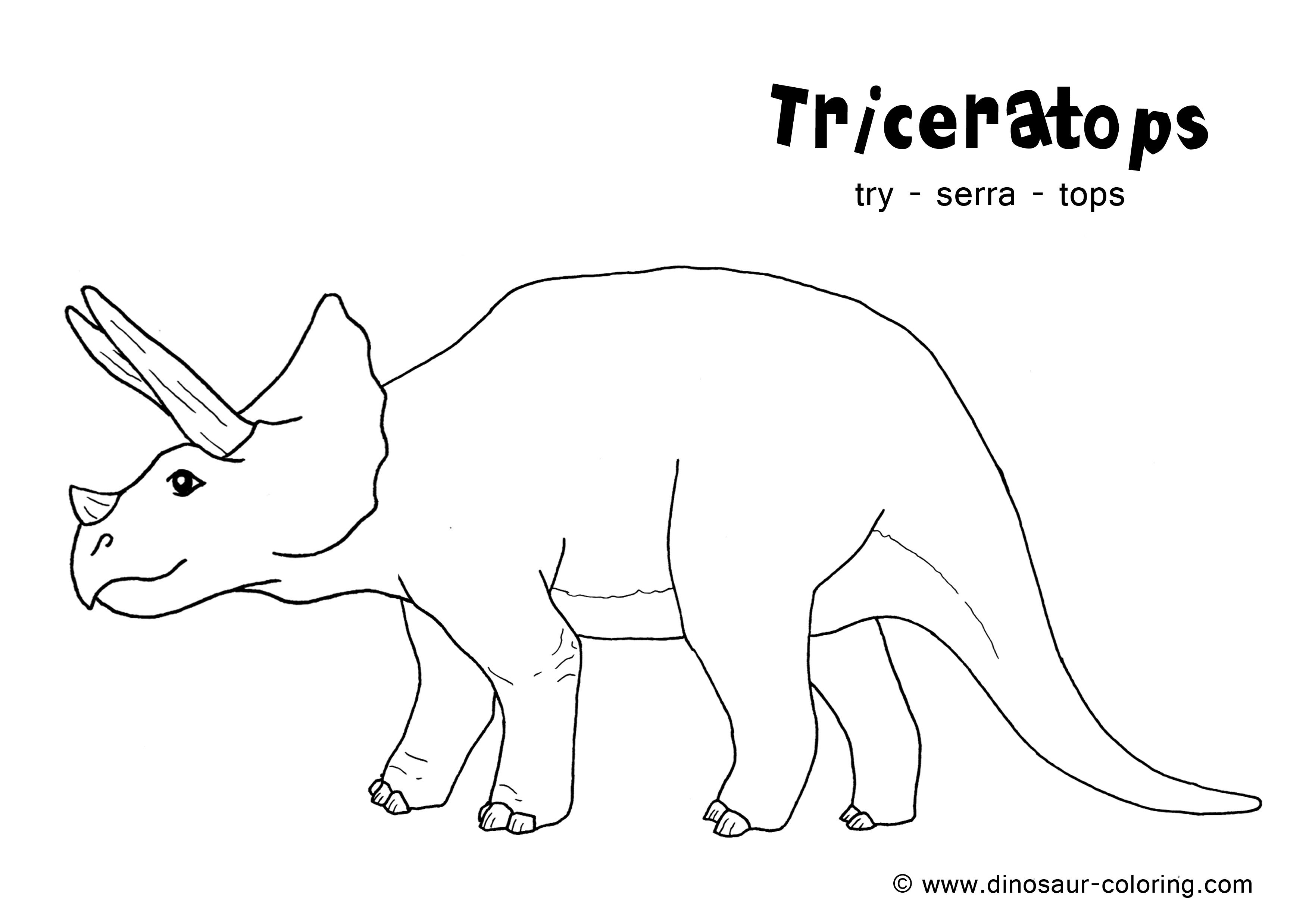 Coloring Pages Dinosaurs Pdf : Triceratops coloring